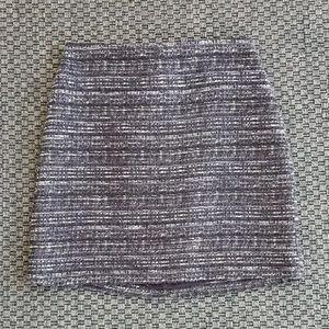 Ann Taylor Tweed Pencil Skirt in Purple/Black